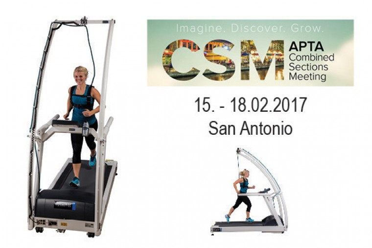 h/p/cosmos at the APTA / CSM - rehabilitation treadmill