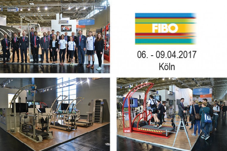 h/p/cosmos at the FIBO: rehabilitation treadmill, performance diagnostics, motion analysis treadmill