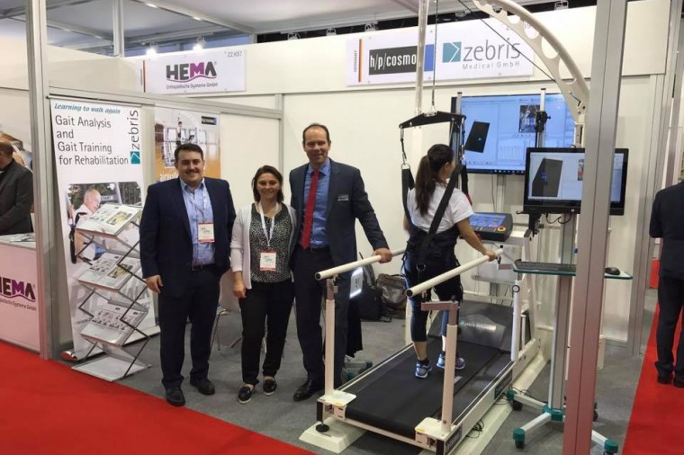 h/p/cosmos at Arab Health 2017: rehabilitation treadmill