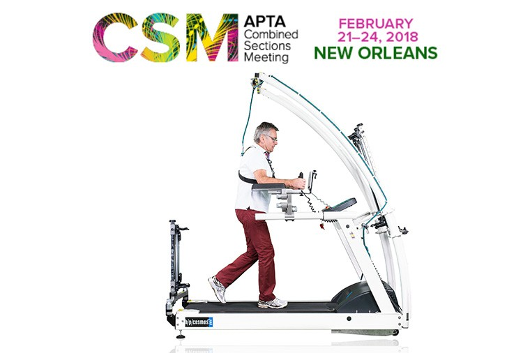 h/p/cosmos treadmill pluto for gait rehabilitation at the APTA CSM 2018