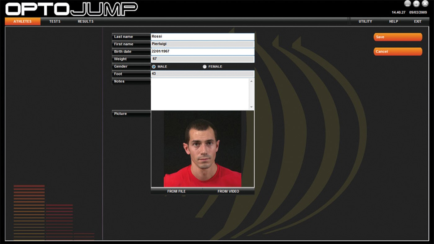 Optojump Software