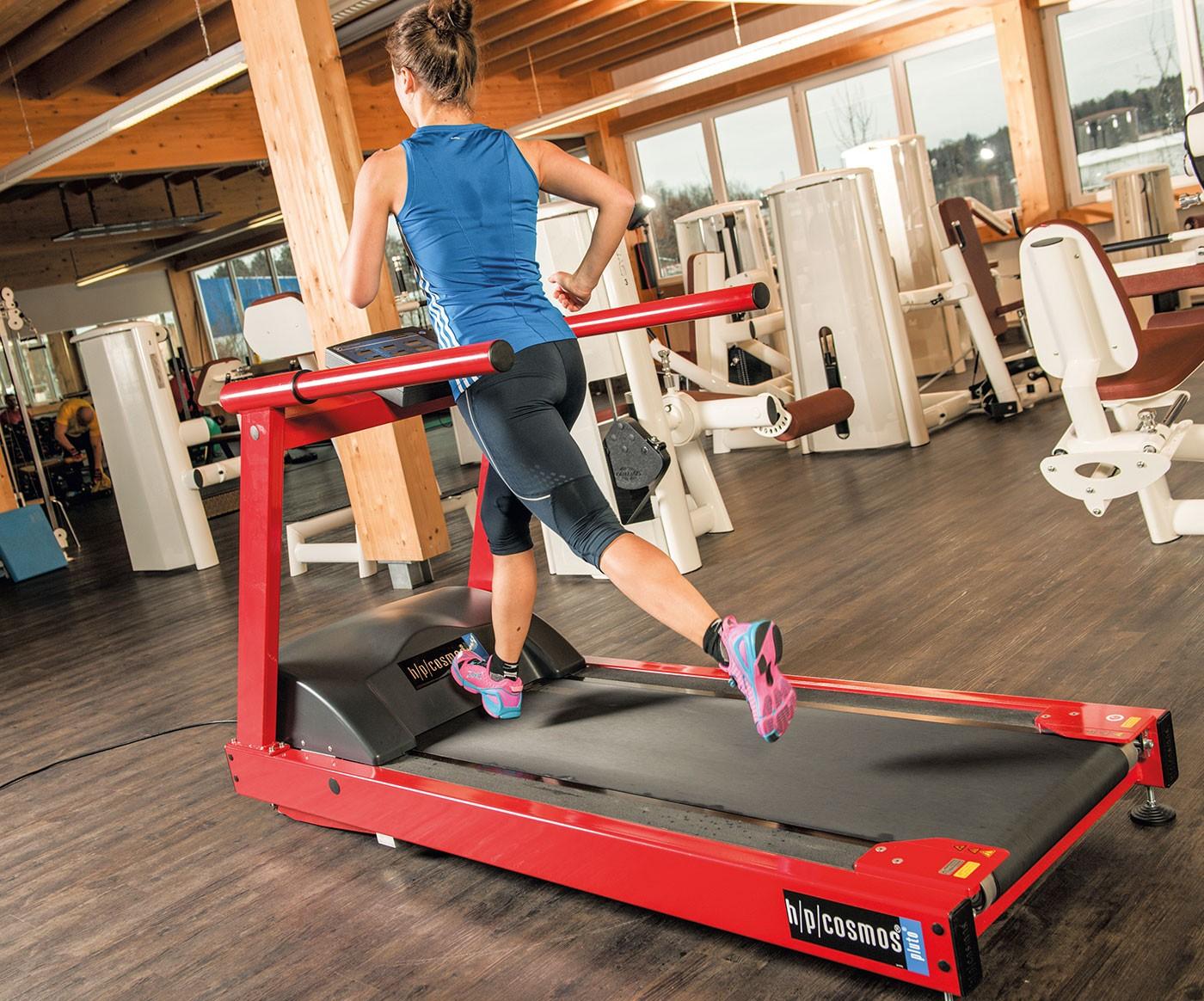 h/p/cosmos treadmill ergometer pluto: very low maintenance, comfortable running surface, advanced construction.