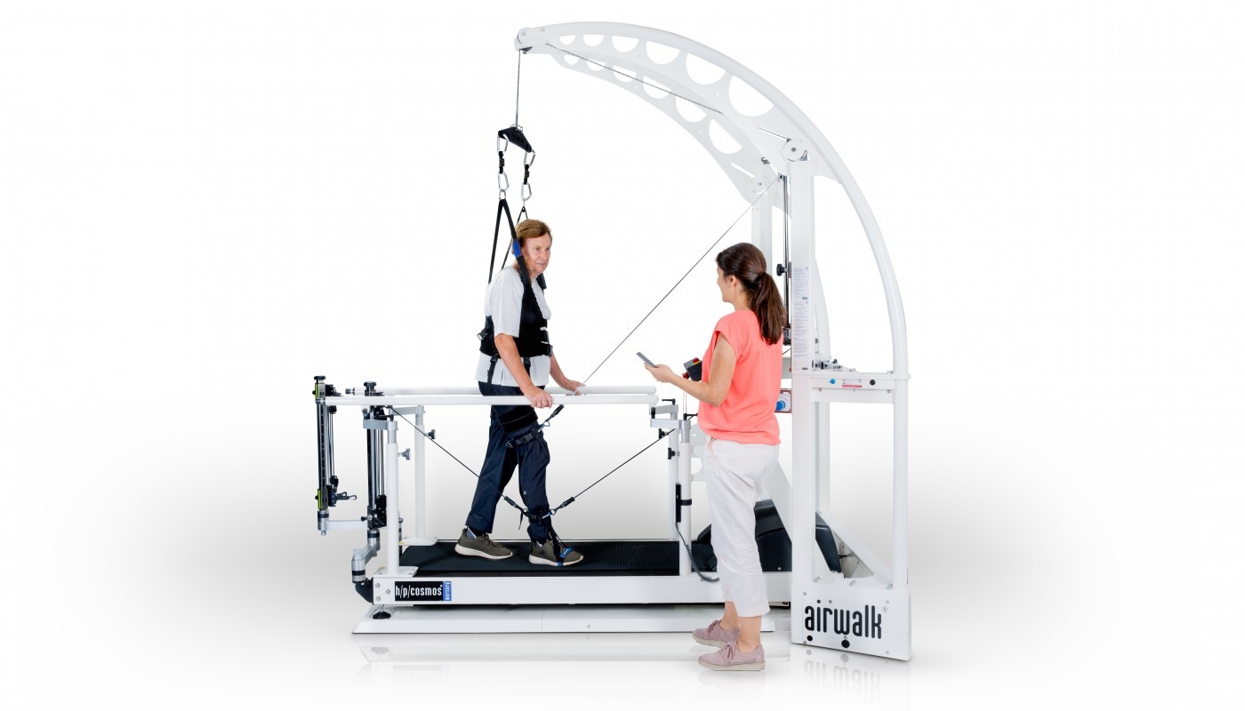 h/p/cosmos treadmill locomotion for gait therapy, gait training & locomotion therapy