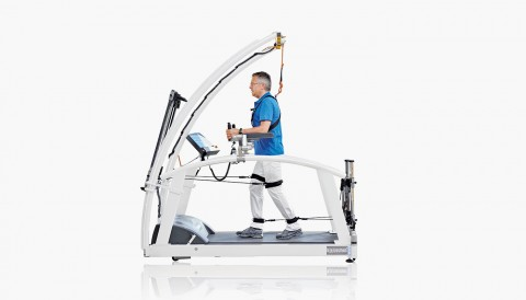 treadmill for gait training - h/p/cosmos mercury med with robowalk expander