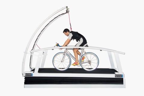 Radfahren auf dem Laufband - Leistungsdiagnostik, biomechanische Analysen auf dem Laufband