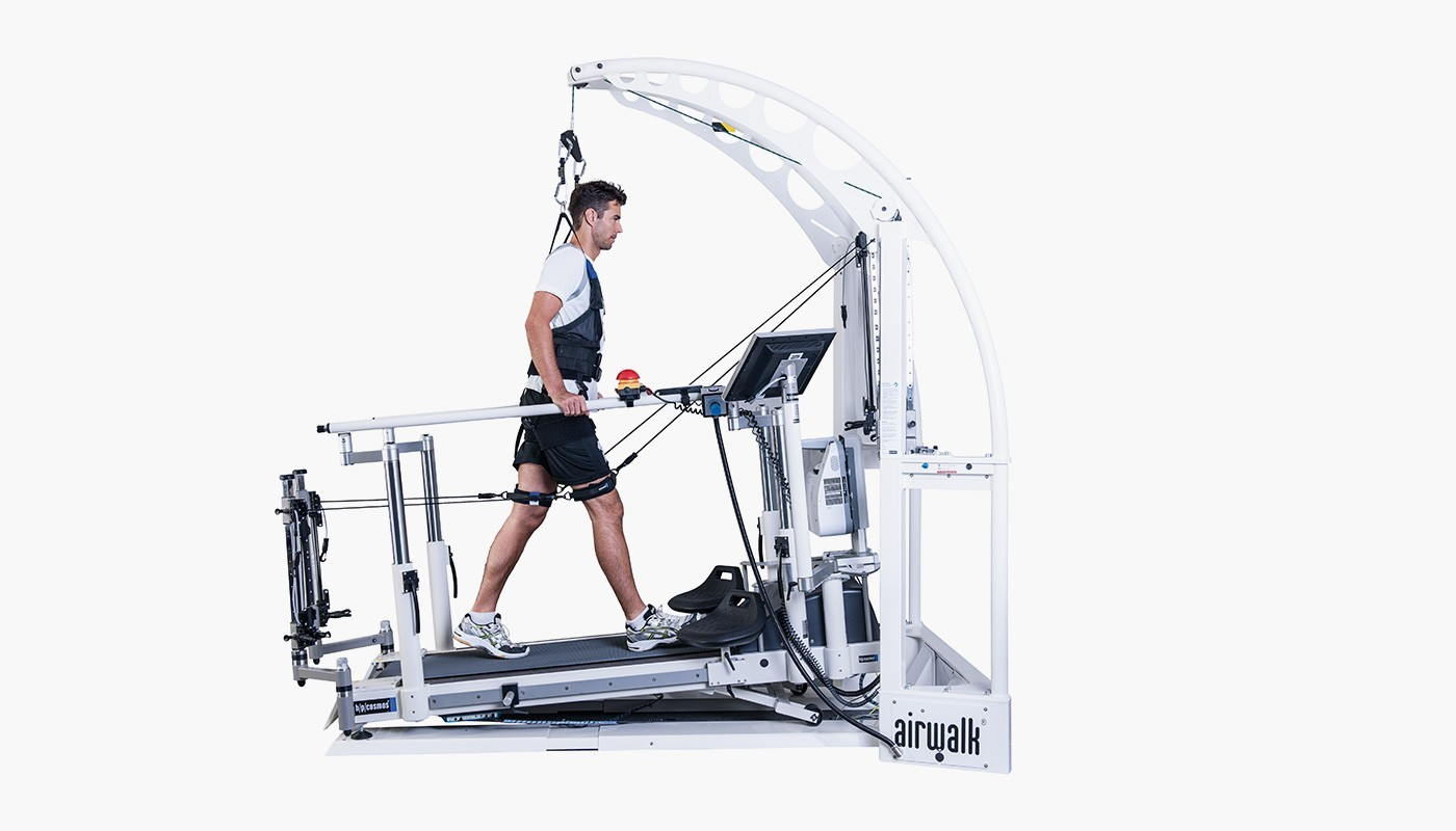 hpcosmos airwalk laufbandtherapie mit gewichtsentlastung