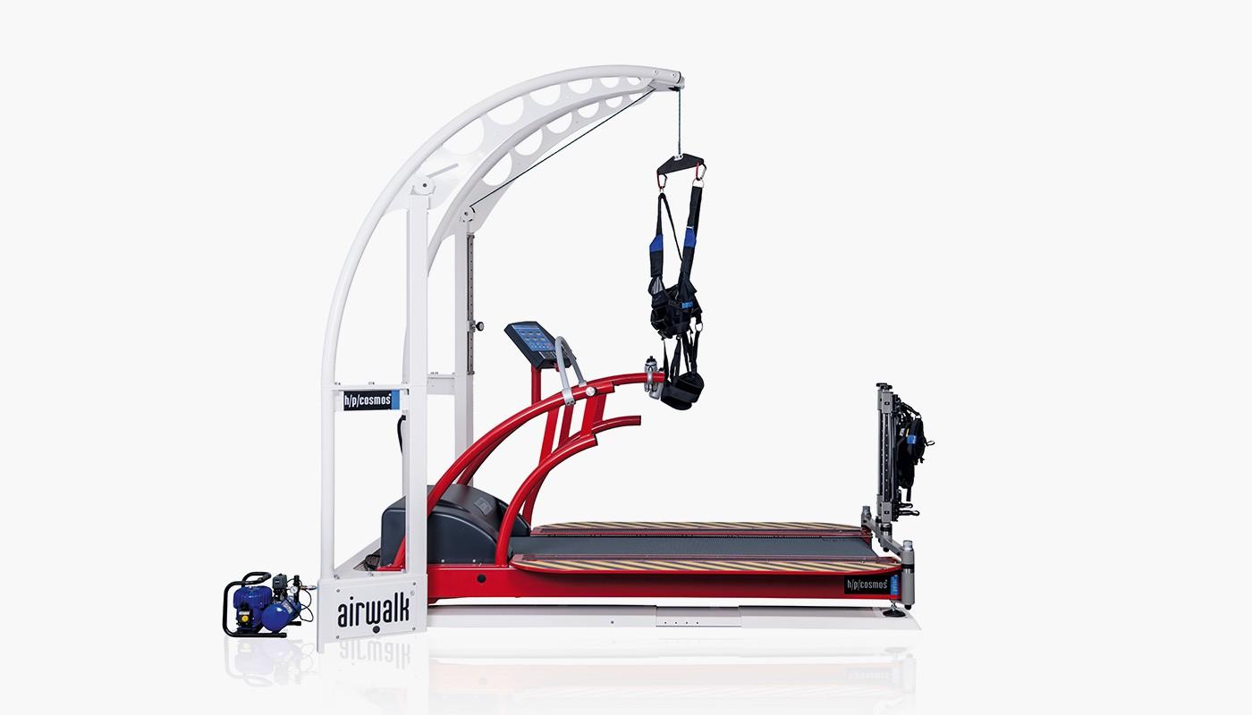 Gewichtsentlastungssystem h/p/cosmos airwalk ap für Sport-Reha, Rehabilitation, Physiotherapie
