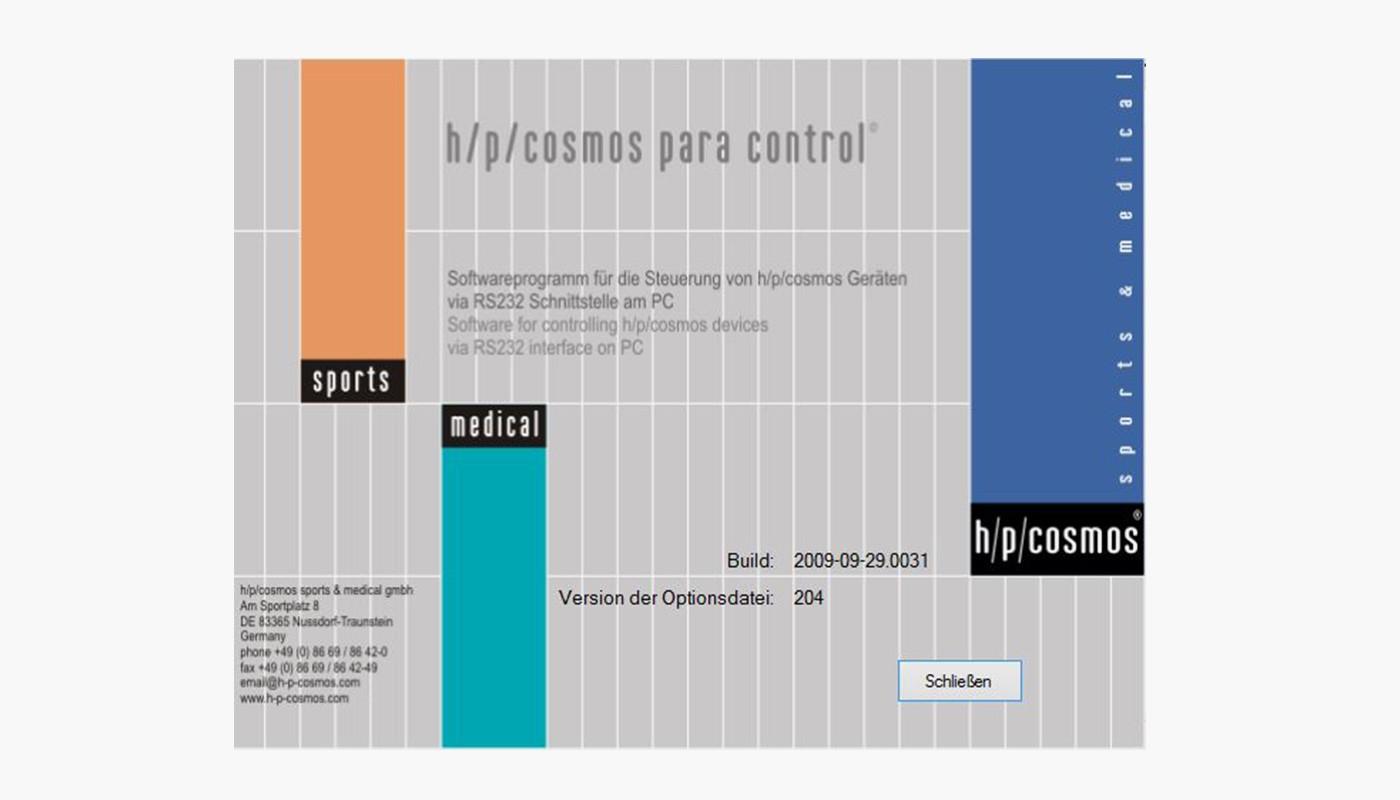 h/p/cosmos para control® 4.1.0