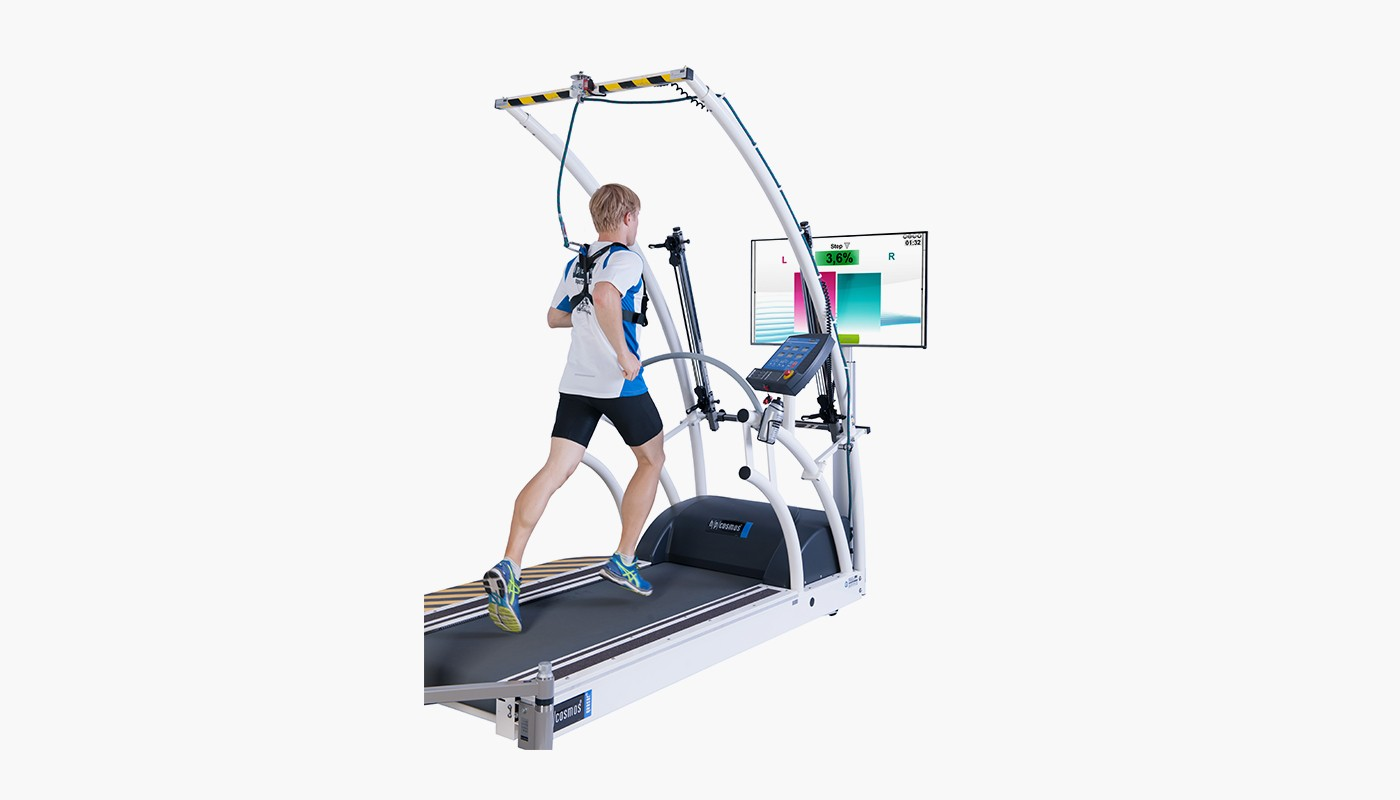h/p/cosmos treadmill quasar with integrated Optogait measurement system