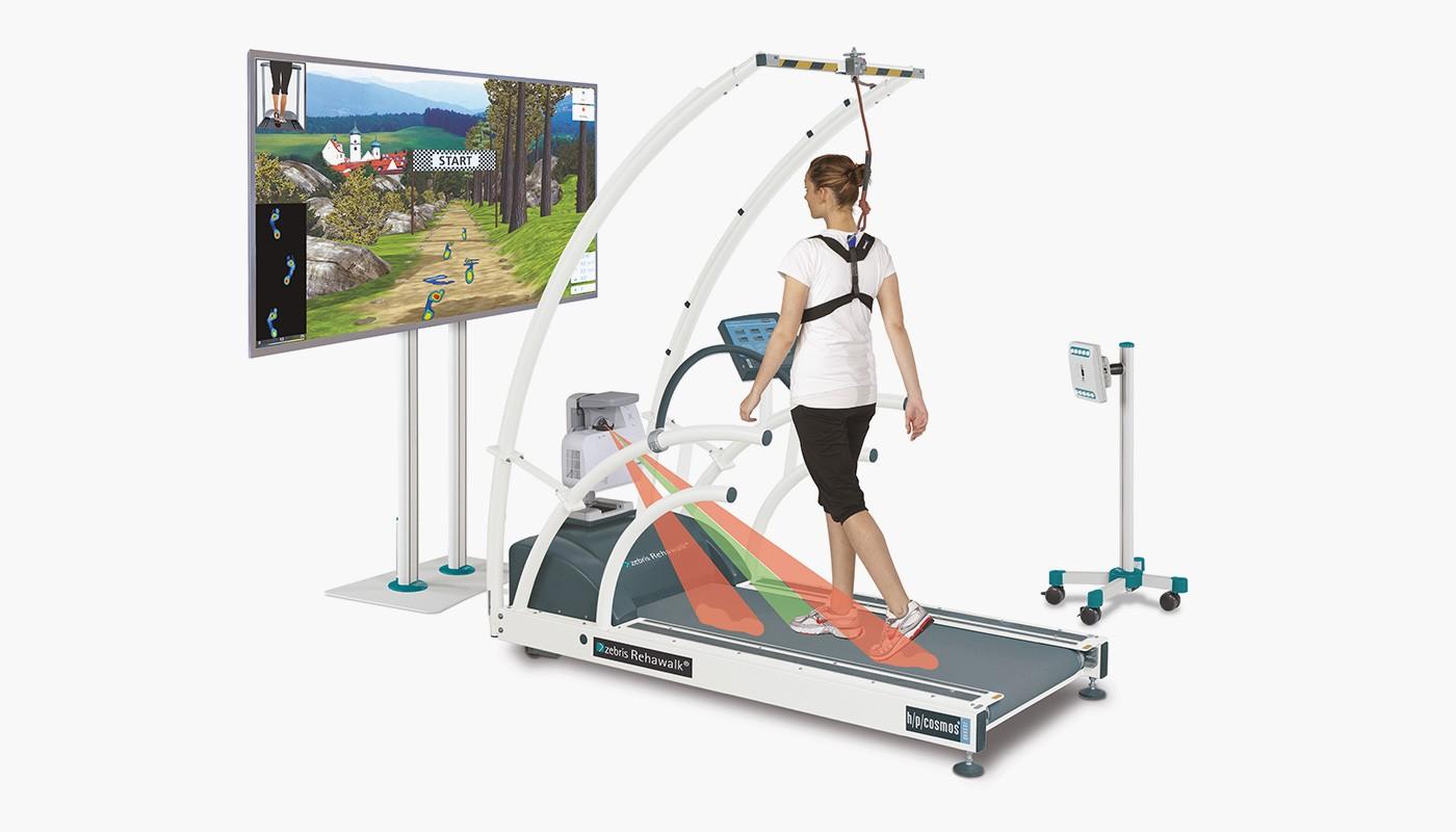 zebris Rehawalk for neurological rehab with h/p/cosmos treadmill