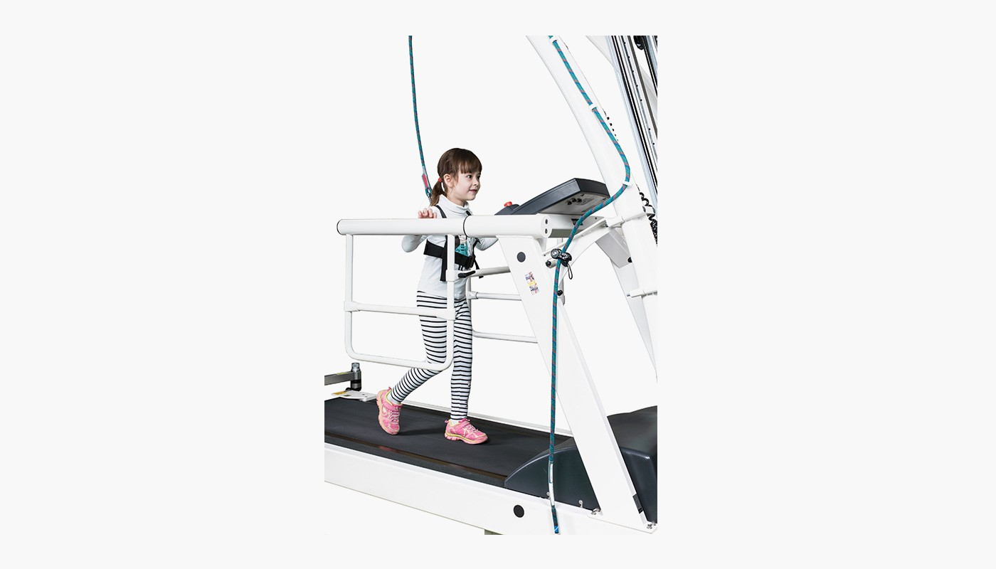 h/p/cosmos treadmill pluto with paediatric handrail