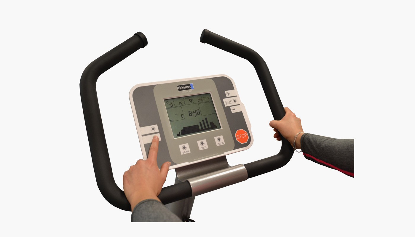 h/p/cosmos bike ergometer torqualizer - user display
